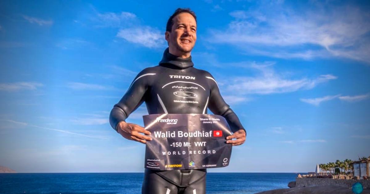 Walid Boudhiaf: un apnéiste humble et talentueux qui bat les records